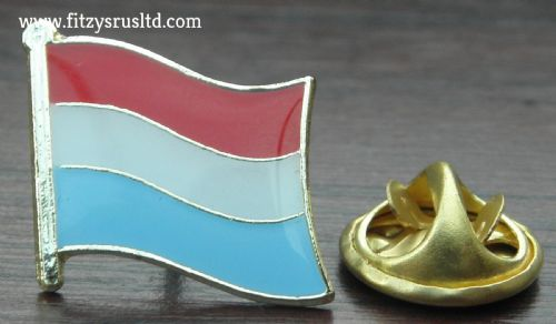 Luxembourg Country Flag Lapel Hat Cap Tie Pin Badge Groussherzogtum Ltzebuerg